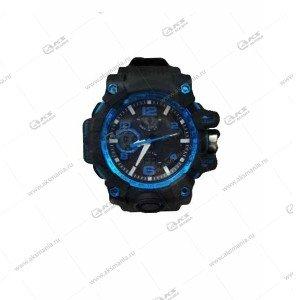 Наручные часы KASIO водонепроницаемые в пластике черно-синие