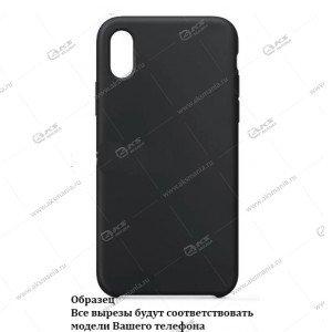 Silicone Case (Soft Touch) для iPhone X/XS графитовый