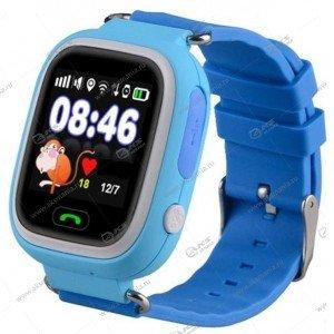 Часы детские Q90 GPS, Будильник, Шагомер. Сенсорный голубой