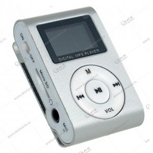 MP3-плеер Perfeo VI-M001 Music Clip Titanium Display серебряный