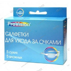 ProVision cредство для для ухода за оптикой, 5 сухих+5 влажных