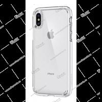 Силикон для iPhone XS Max плотный тонкий прозрачный