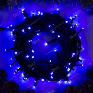 Гирлянда уличная темный провод 600LED 50м синий