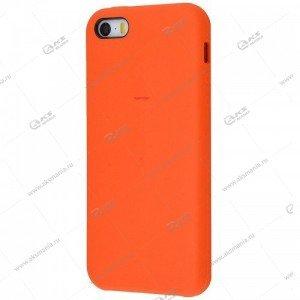 Silicone Case (Soft Touch) для iPhone 5/5S/5SE оранжевый