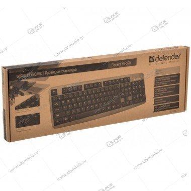 Клавиатура Defender  Element HB-520 USB, черный