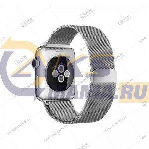 Ремешок миланская петля для Apple Watch 38mm/ 40mm серебро
