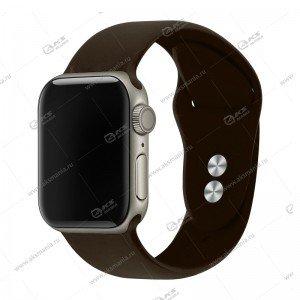Ремешок силиконовый для Apple Watch 38mm/ 40mm серо-коричневый