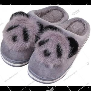 """Домашние меховые тапочки """"Панда"""" закрытые 30/31 размер"""