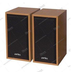Компьютерные колонки Perfeo Cabinet PF-84 бук дерево