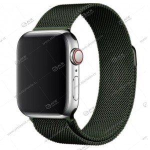 Ремешок миланская петля для Apple Watch 42mm/ 44mm болотный