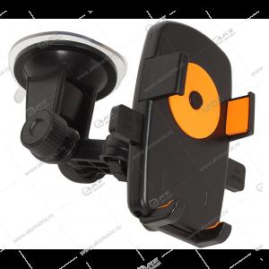 "Автодержатель Perfeo PH-502-2 для смартфона/стекло/топредо до 6,5"" черно-оранжевый"