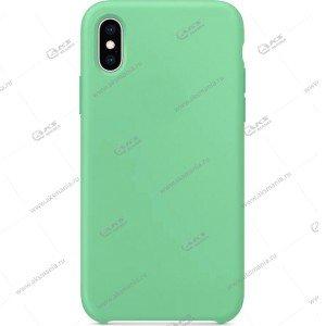 Silicone Case (Soft Touch) для iPhone XR мятно-зеленый