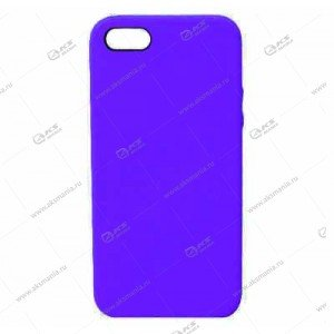Silicone Case (Soft Touch) для iPhone 5/5S/5SE сиреневый