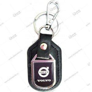 "Брелок для ключей металлический+кожа ""Volvo"""