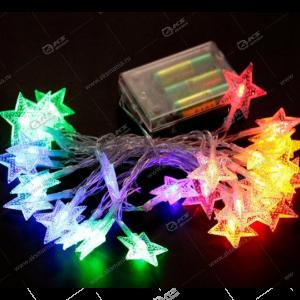 """Светодиодная гирлянда """"Звезды"""" на батарейках разноцвет."""