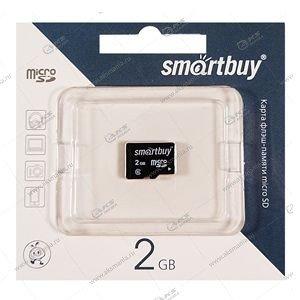 Карта памяти 2GB microSD SmartBuy без адаптера