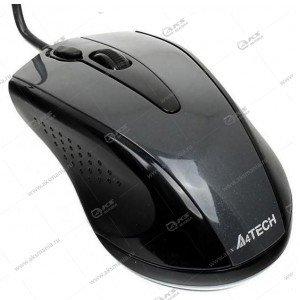Мышь проводная A4Tech V-Track Padless N-360-1 серый