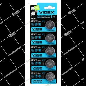 Элемент питания VIDEX CR2032/5BL Lithium
