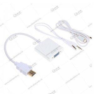 Переходник HDMI-VGA+AUX+micro usb кабель для питания