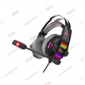 Наушники Smartbuy SBHG-5100 Rush Stormer, LED-подсветка, игровые, черно-красные