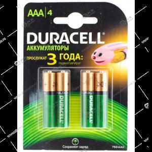 Элемент питания аккумулятор Duracell R3 (AAA) 750 mAh/4BL
