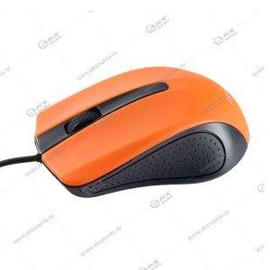 Мышь проводная Perfeo Rainbow оптическая, 3 кн, USB, 1,8м, (PF-353-OP) черно-оранжевый