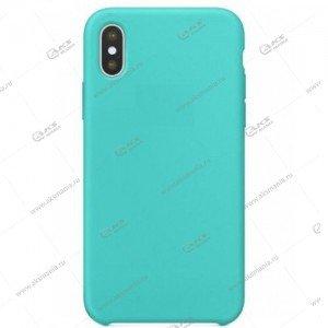 Silicone Case (Soft Touch) для iPhone XS Max голубой