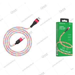 Кабель Borofone BU19 Streamer charging data cable Micro красный