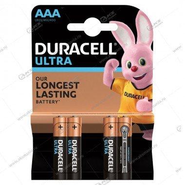 Элемент питания Duracell LR03 AAA Ultra Power/4BL