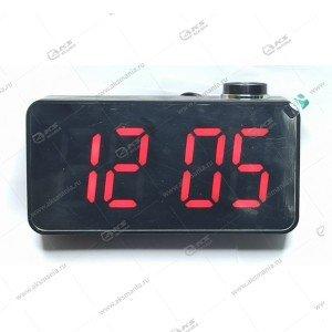 Часы настольные 9043 черно/красный