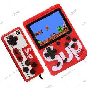 Портативная игровая приставка с джойстиком SUP Game box 400in1 красная