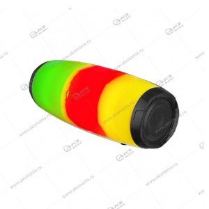 Колонка портативная Perfeo Flare-UP с подсветкой черный