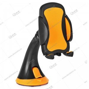 "Автодержатель Perfeo PH-501 для смартфона до 6,5""/на стекло/черный+оранж."