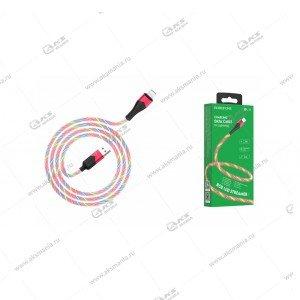 Кабель Borofone BU19 Streamer charging data cable lightning красный