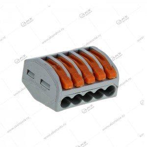 Строительно монтажные клеммы Smartbuy с рычагами, 4 отверстия, 0.5-4мм2 (SBE-cwcc-4)