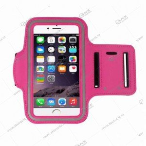 Спортивный чехол на руку с прозрачным окном iPhone 5 розовый