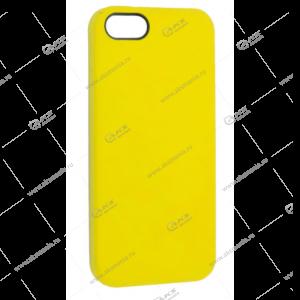 Silicone Case (Soft Touch) для iPhone 5/5S/5SE желтый