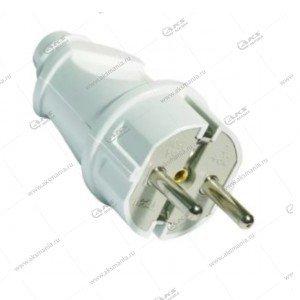Вилка Smartbuy прямая с заземлением белая 16A 250В (SBE-16-P01-w)