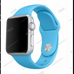 Ремешок силиконовый для Apple Watch 38mm/ 40mm ярко-синий