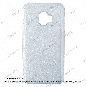 Силикон Samsung J260/J2 Core перламут 2в1 белый