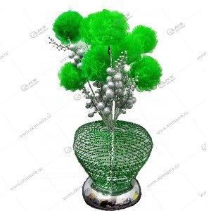 Ночник Роза с серыми шариками зеленый