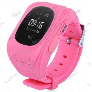 Часы детские Q50 GPS, Будильник, Шагомер розовый