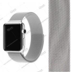 Ремешок миланская петля для Apple Watch 38mm/ 40mm светло-серый