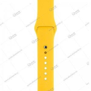 Ремешок силиконовый для Apple Watch 42mm/ 44mm желтый