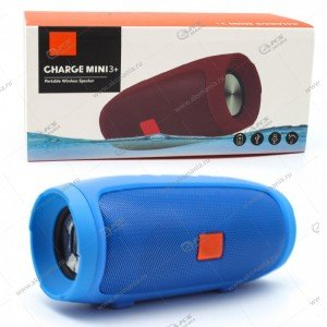 Колонка портативная Charge Mini 3+ BT TF FM синий