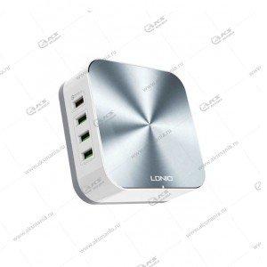 Зарядная станция на 8 USB портов LDNIO A8101 QC 3.0/ Выход: 5V_9V_12V, 50W/ White&Rose