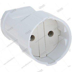 Штепсельное гнездо Smartbuy, без заземления, 10A, 250В, белое (SBE-10-S02-w)