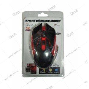 Мышь беспроводная HYD-62 черный/красный
