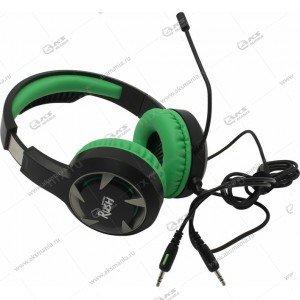 Наушники Smartbuy SBHG-8200 Rush Mace, Игровые, Гибкий микрофон зеленый