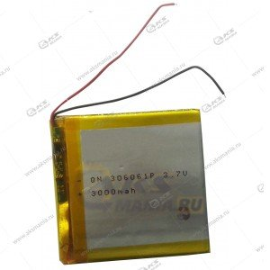 Аккумулятор универсальный 306061 3000mAh литий-ионный